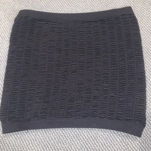 Textured Black Stretchy Tube Top